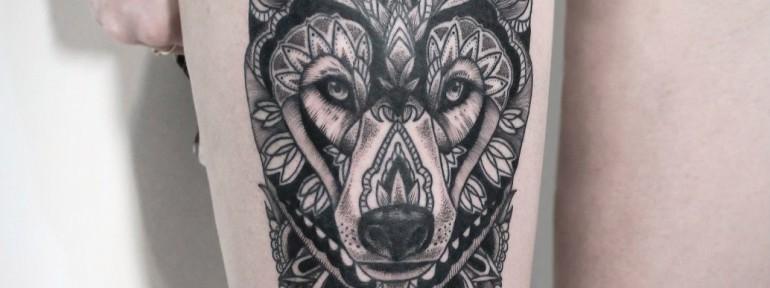 Художественная татуировка «Волк». Мастер — Инесса Кефир