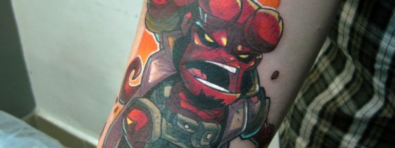 Художественная татуировка «Герой». Мастер Ян Енот.