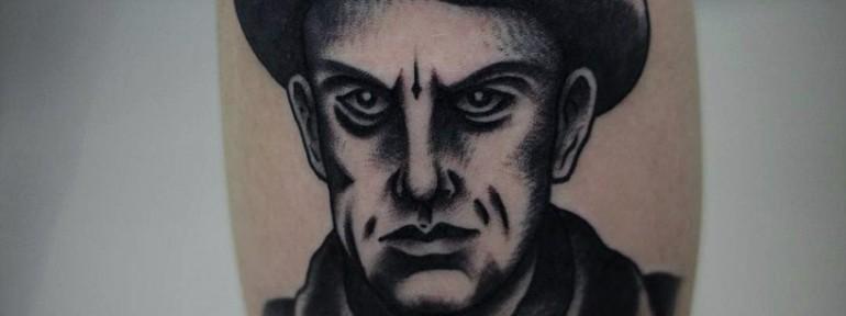 Художественная татуировка «Маяковский». Мастер Александр Бахаревич