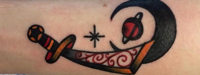 Художественная татуировка «Меч» от Вовы Meatshit