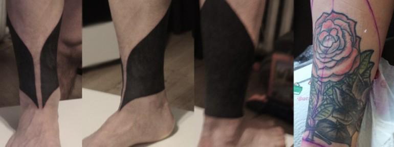 Художественная татуировка. Перекрытие. Мастер Даня Костарев