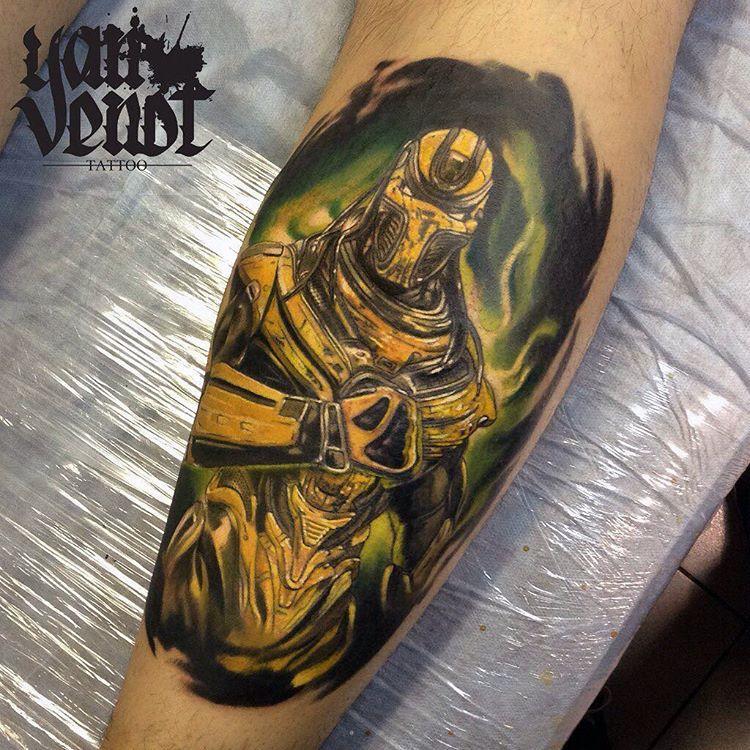 Художественная татуировка «Супер герой». Мастер Ян Енот