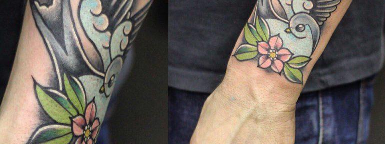 Художественная татуировка «Ласточка». Мастер- Ил Берёза