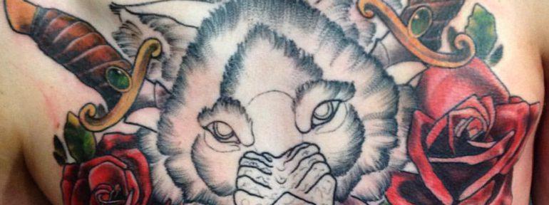 Художественная татуировка «Волк» от Дмитрий Поликарпова