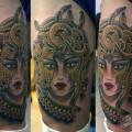 Художественная татуировка «Медуза Горгона». Данила-Мастер. Место нанесения: бедро. Время работы: 2,5 часа, по своему эскизу.