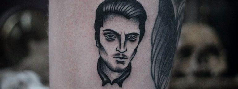 Художественная татуировка «Автопортрет». Мастер- Александр Бахаревич