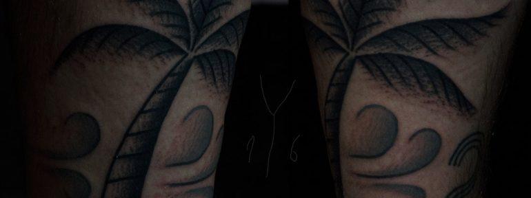 Художественная татуировка «Пальма». Мастер Даня Костарев.