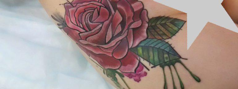 Художественная татуировка «Роза». Мастер- Роман