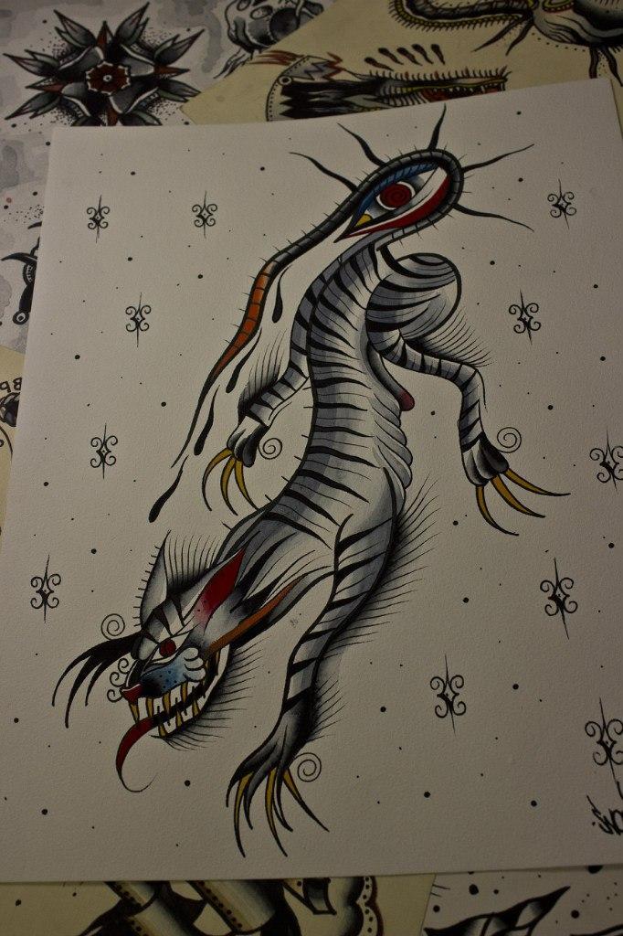 Свободный эскиз тату «Тигр»