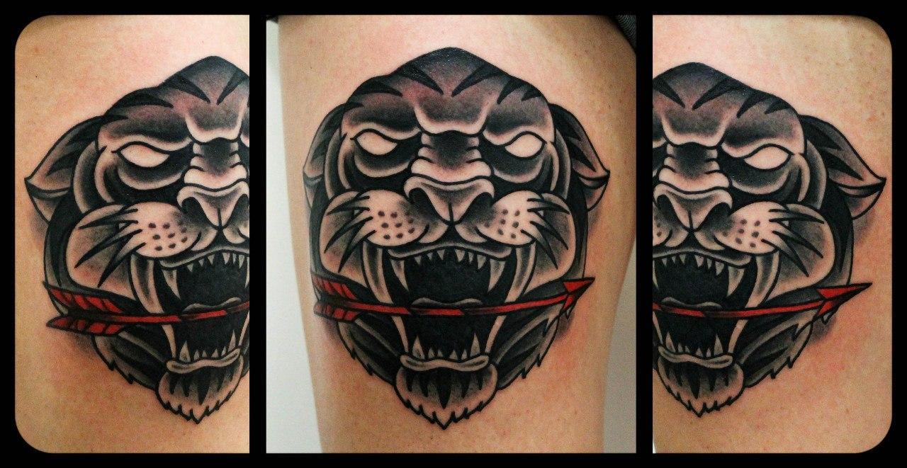 Художественная татуировка «Тигр»