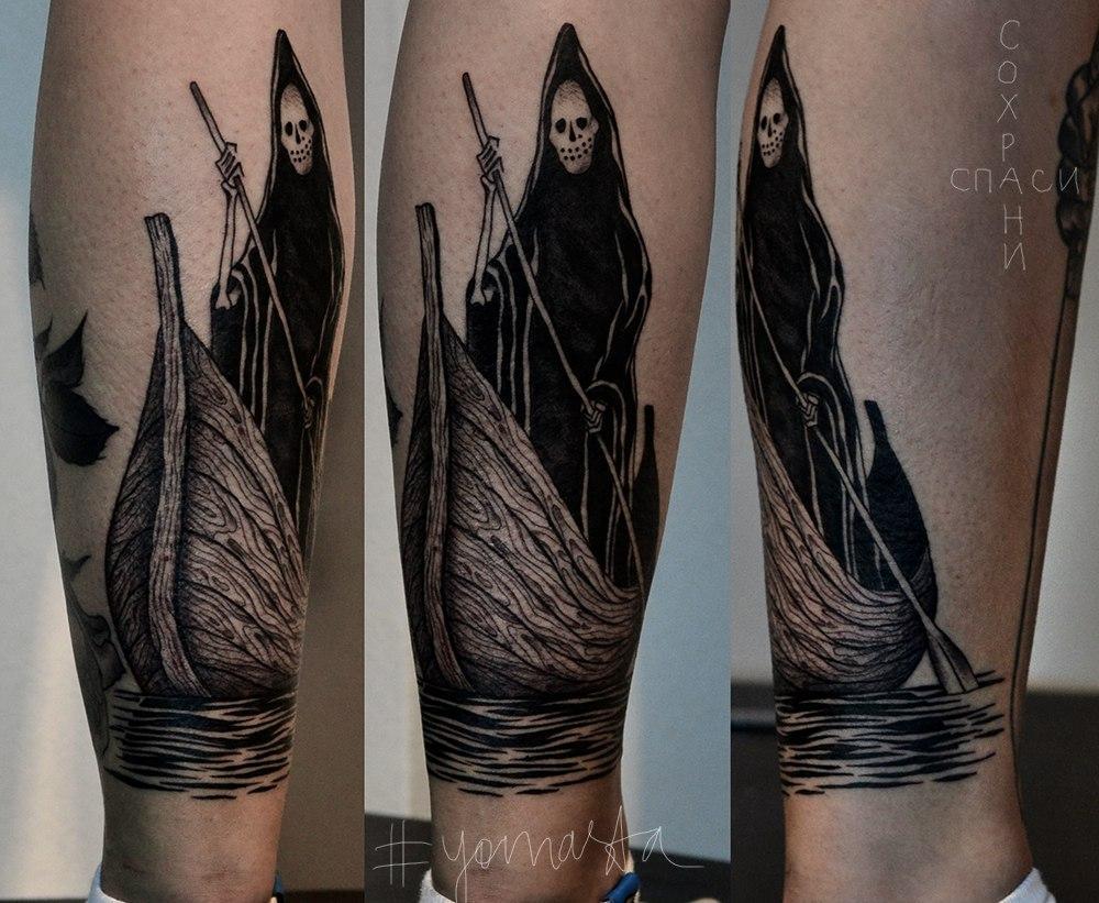 татуировки смерть с косой картинки