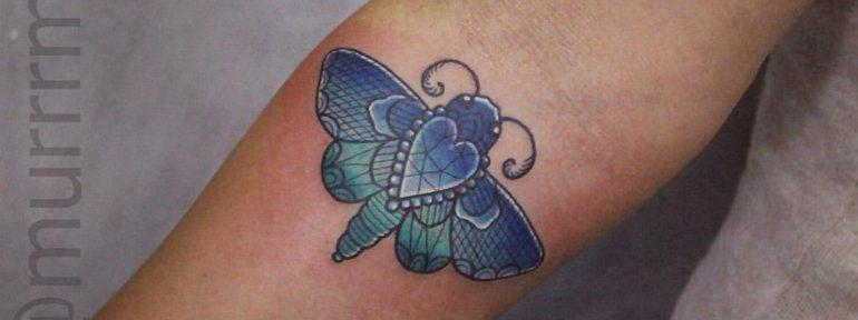 Художественная татуировка «Мотылек». Мастер Настя Стриж