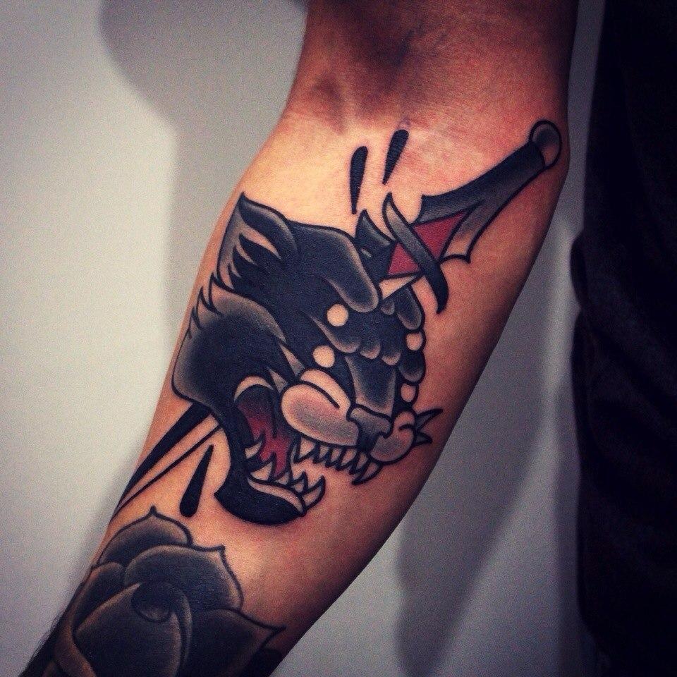 Художественная татуировка Пантера