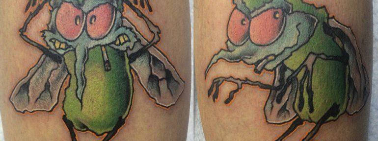 Художественная татуировка «AC/DC». Мастер- Илья Берёзкин