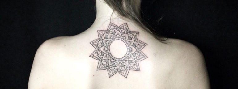 Художественная татуировка «Мандала». Мастер Лилия Золотухина