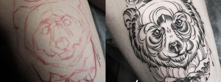 Мастер Anna KORE. Татуировка «Медведь»