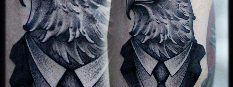 Художественная татуировка «Орёл». Мастер Лёша Стафеев