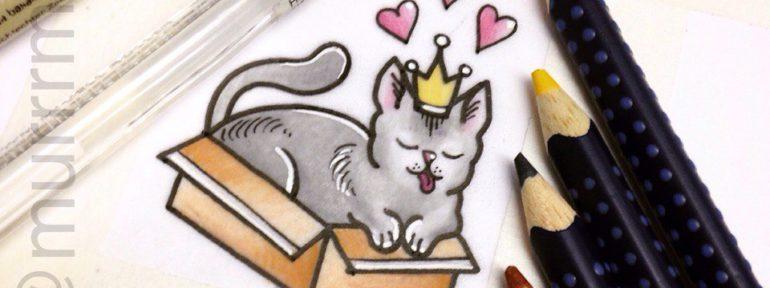 Свободный эскиз «Котик». Мастер Настя Стриж