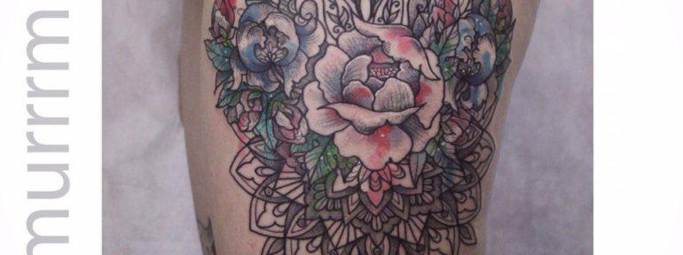 Художественная татуировка «Орнамент».Мастер Настя Стриж.