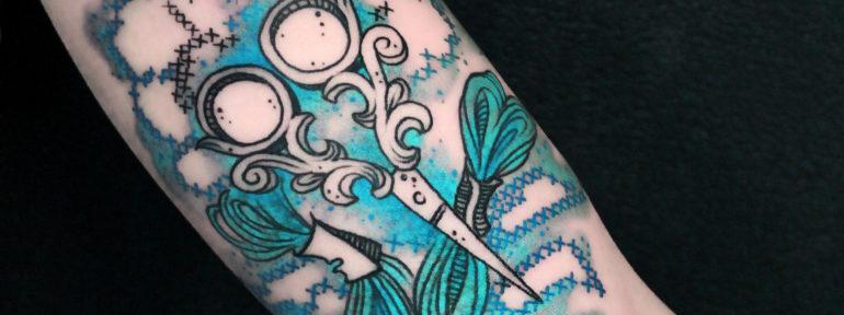 Художественная татуировка «вышивка» от Анны Корь