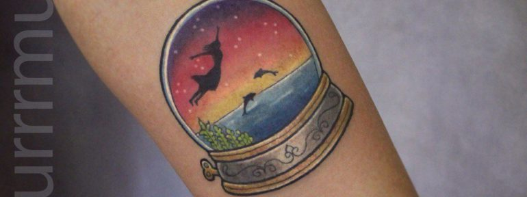 Художественная татуировка «Волшебный Шар».Мастер Настя Стриж