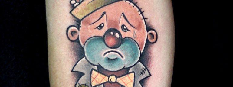 Художественная татуировка «Грустный клоун». Мастер- Ил Берёза.