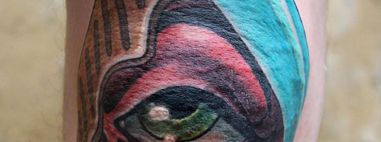 Художественная татуировка «Глаз». Мастер Дима Поликарпов.
