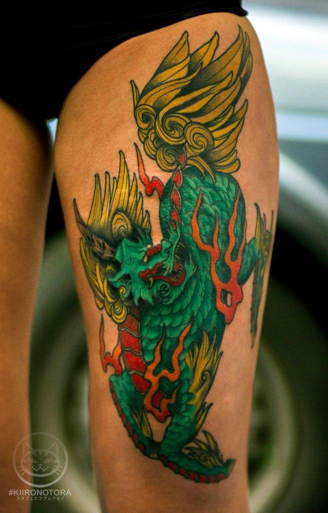Художественная татуировка «Дракон». Мастер Лёша Стафеев
