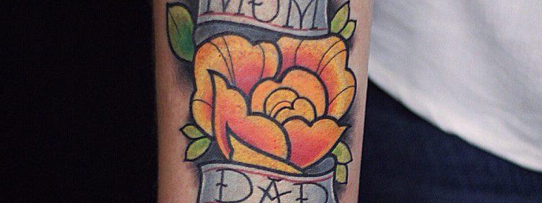 Художественная татуировка «Роза». Мастер- Ил Берёза.