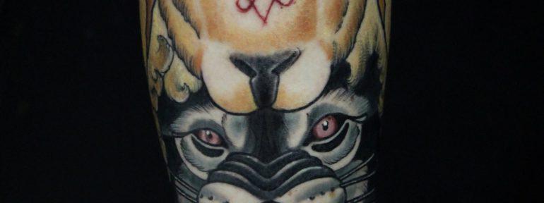 Художественная татуировка «Волк». Мастер Дима Поликарпов
