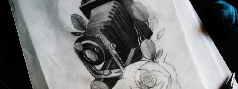 Свободный эскиз «Фотоаппарат». Мастер Дима Поликарпов