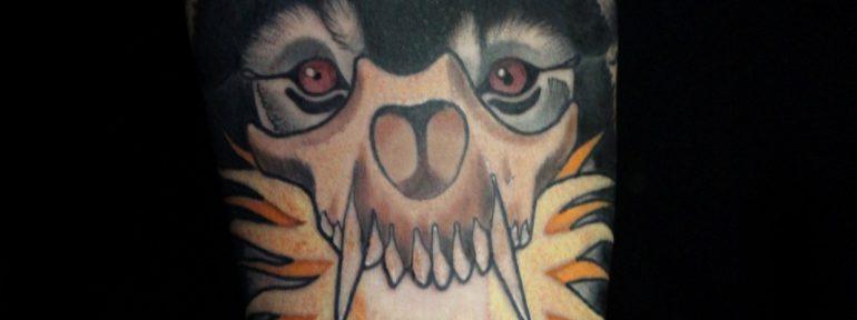 Художественная татуировка «Волк». Мастер Дмитрий Поликарпов.