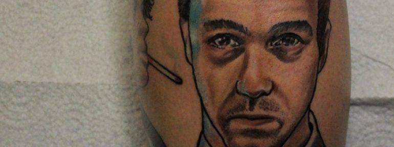 Художественная татуировка «Эдвард Нортон». Мастер Дима Поликарпов
