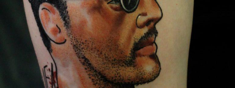 Художественная татуировка «Леон». Мастер Дима Поликарпов.
