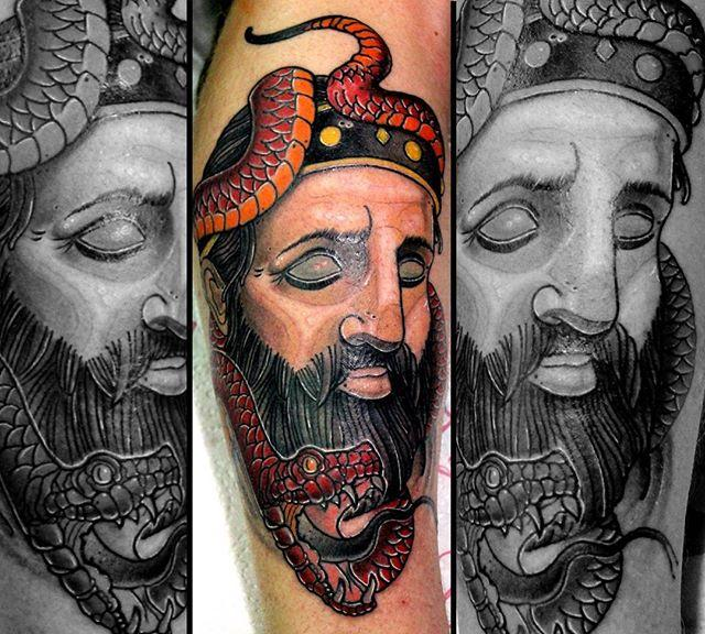 Художественная татуировка «Змей». Мастер Руслан Тавакалов