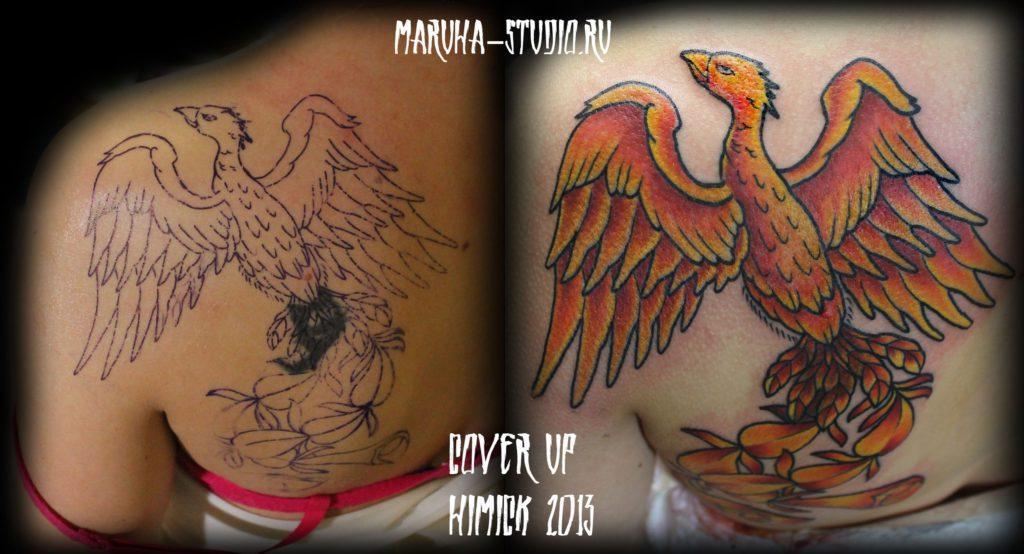 Художественная татуировка «Феникс»