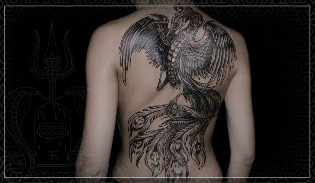 птица феникс картинки тату