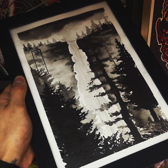 Свободный эскиз «Лес». Мастер Лёша Стафеев