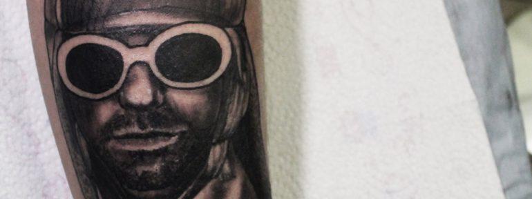 Художественная татуировка «Курт». Мастер Дима Поликарпов