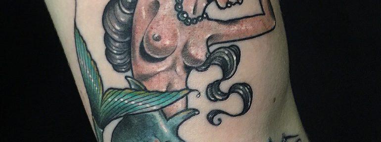 Художественная татуировка «Русалка». Мастер- Ил Берёза.