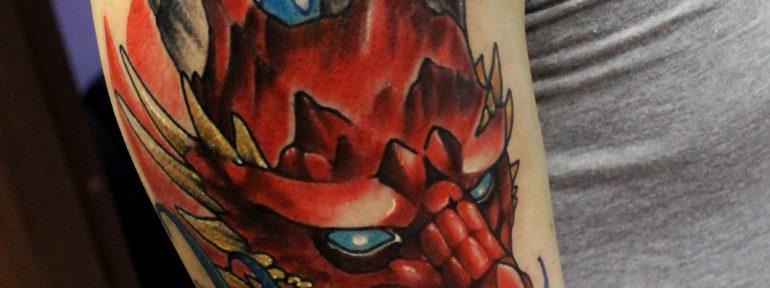Художественная татуировка «Дракон». Мастер Дима Поликарпов