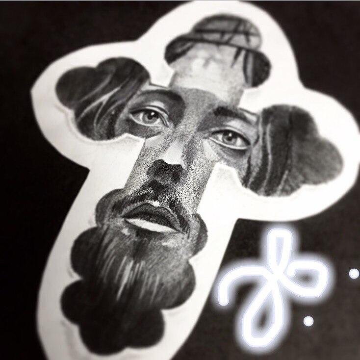 Свободный эскиз «Крест». Мастер- Василий Эверест.