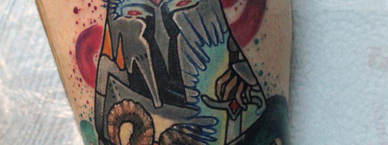 Художественная татуировка «Матрёшка». Мастер Дима Поликарпов.