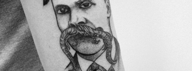 Татуировка «Ницше». Мастер Михаил Глебов.