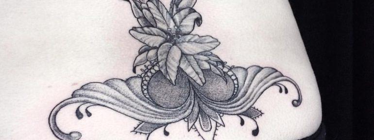 Художественная татуировка «узор». Мастер Лилия