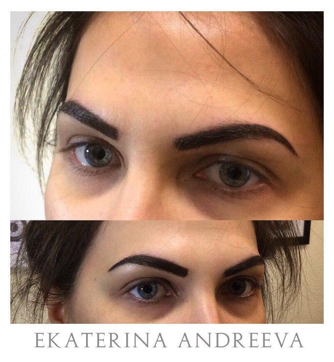 Перманентный макияж бровей. Мастер Екатерина Андреева.