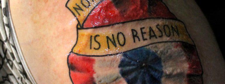 Художественная татуировка «Роза». Мастер Дима Поликарпов