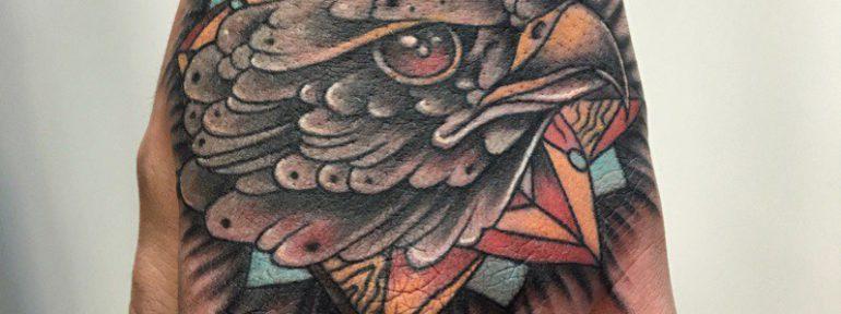 Татуировка «Орел». Мастер Павел Бормотов.