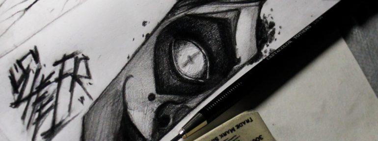 Свободный эскиз «Нож». Мастер Дима Поликарпов