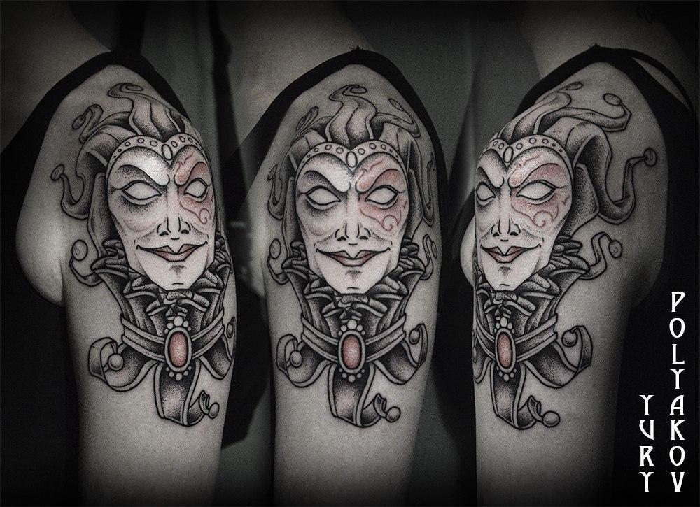 Художественная татуировка Арлекин